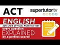 ACT EXPLANATIONS ENGLISH: Official 2018 Practice Test PDF in description