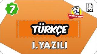 7.Sınıf Türkçe 2.Dönem 1.Yazılı  2020