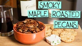 Smoky Maple Roasted Pecans