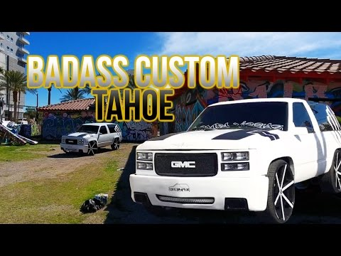 BADASS CUSTOM TAHOE - ROLLING THE STRIP LAS VEGAS