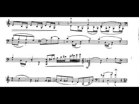Sergei Prokofiev - Cello Concertino in G Minor, Op. 132 (1953) [Score-Video]