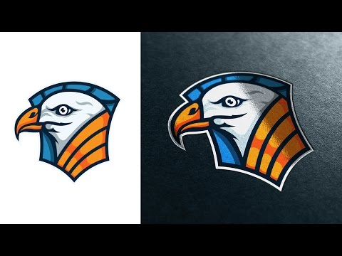 Logo Design Process Illustrator – Bird Badge