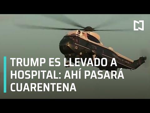 Donald Trump es trasladado al hospital, tras ser diagnosticado con Covid-19