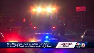 2 deputies injured by gunfire, subject dead after day-long barricade situation