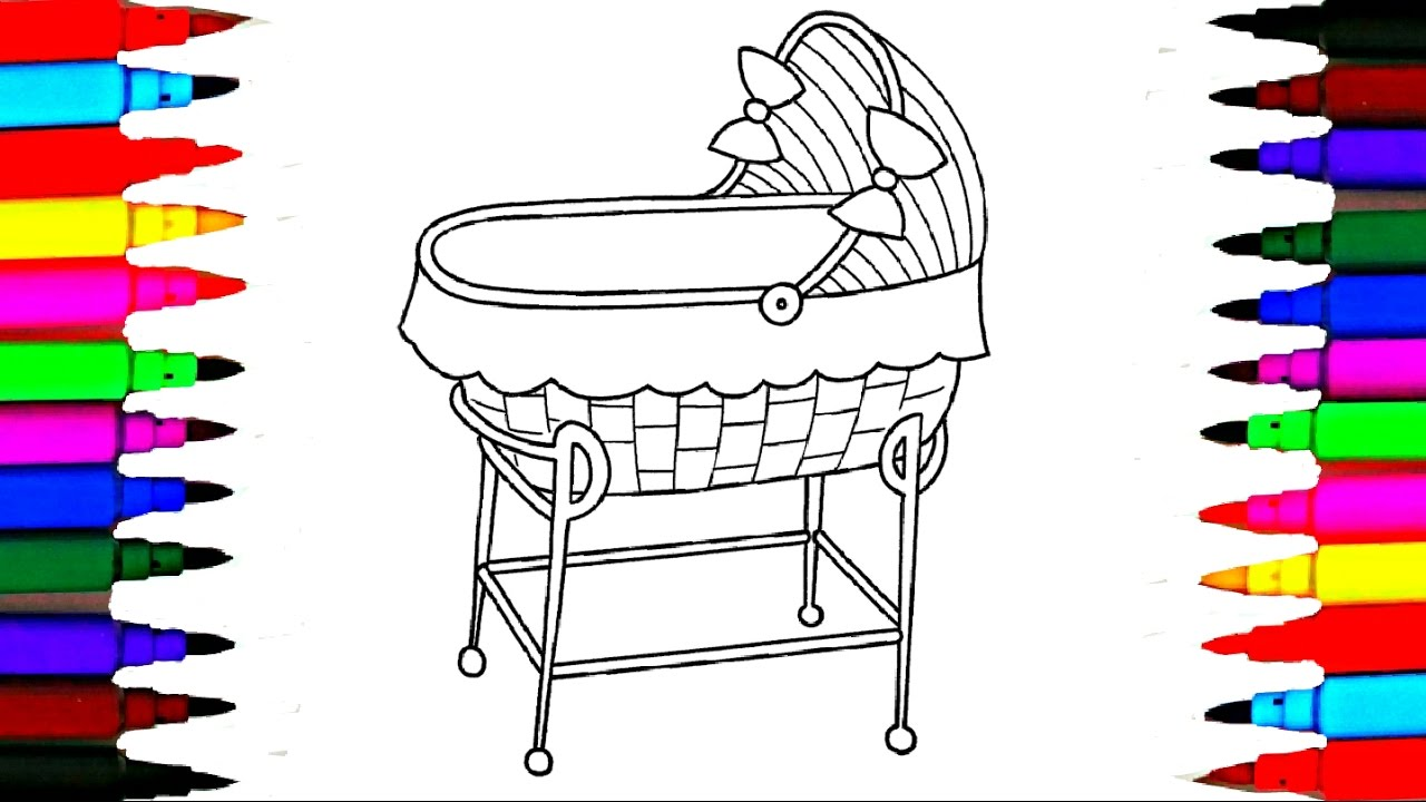 Dolly Crib Coloring Pages L Nursery Room Drawing Pages To