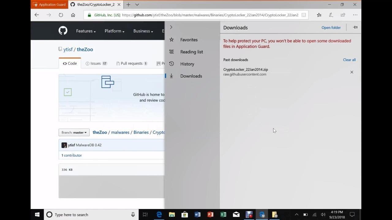 Malware protection on Windows 10 using Hyper-V - THR1095