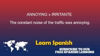 Annoying in Spanish