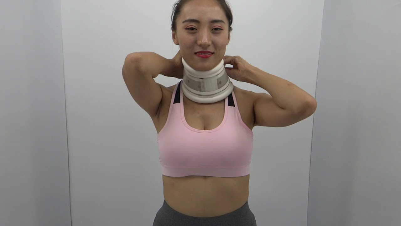 Repeat Plastic cervical collar free size white color by Jack