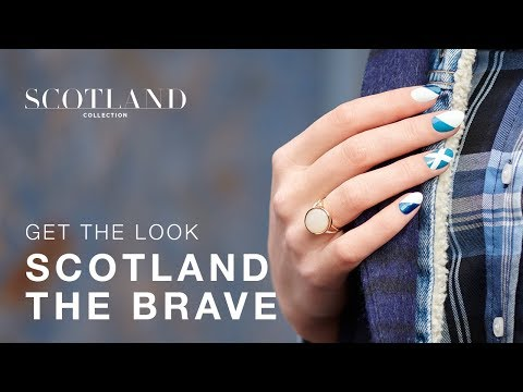 Scotland Flag Inspired DIY Nail Art Tutorial thumbnail