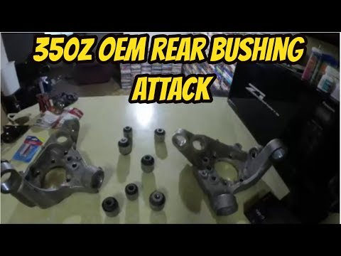 350z rear spindle knuckle bushing removal