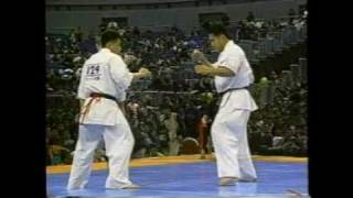 Toru Okamoto vs Kou Tanigawa - The 6th Karate World Tournament Qtr ...