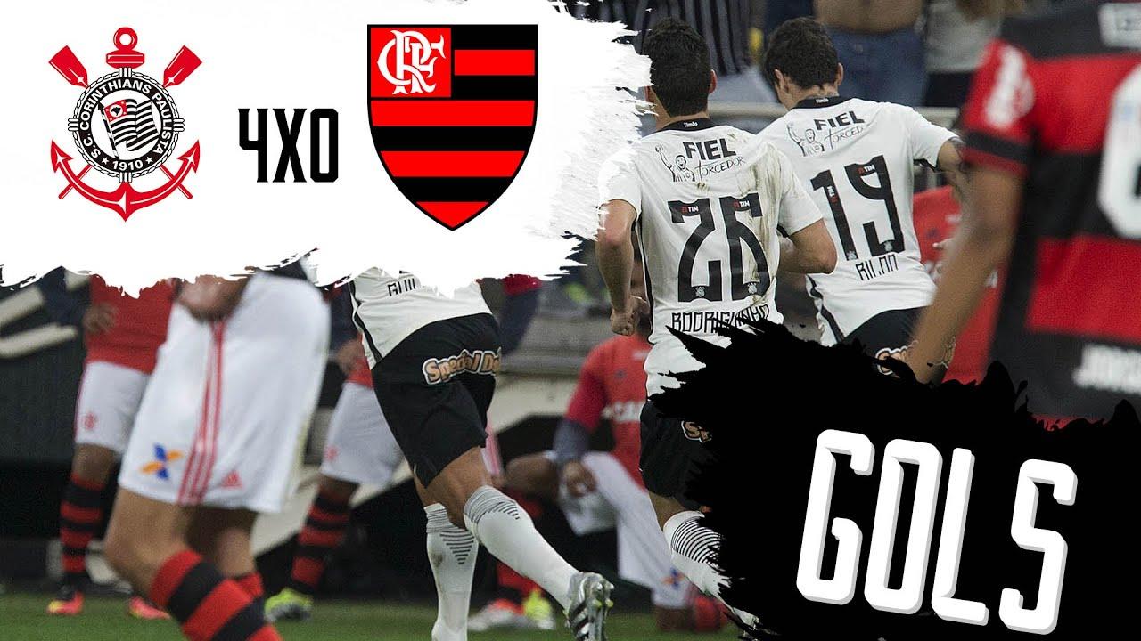 Corinthians 4 x 0 Flamengo - Gols - Campeonato Brasileiro
