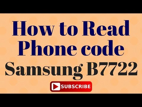 Samsung B7722 Simple Way for Read Phone code in Z3x box
