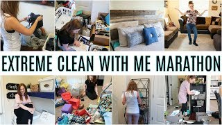 EXTREME CLEAN WITH ME MARATHON 2019   1.5 HOURS OF SPEED CLEANING MOTIVATION   TIME LAPSE CLEANING