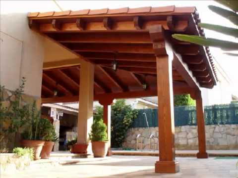 Las p rgolas y porches de madera est n de moda youtube for Tejados de madera para porches