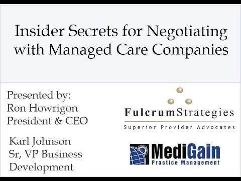 Medical Insurance Reimbursement: Insider Secrets to Payer Contract Negotiation