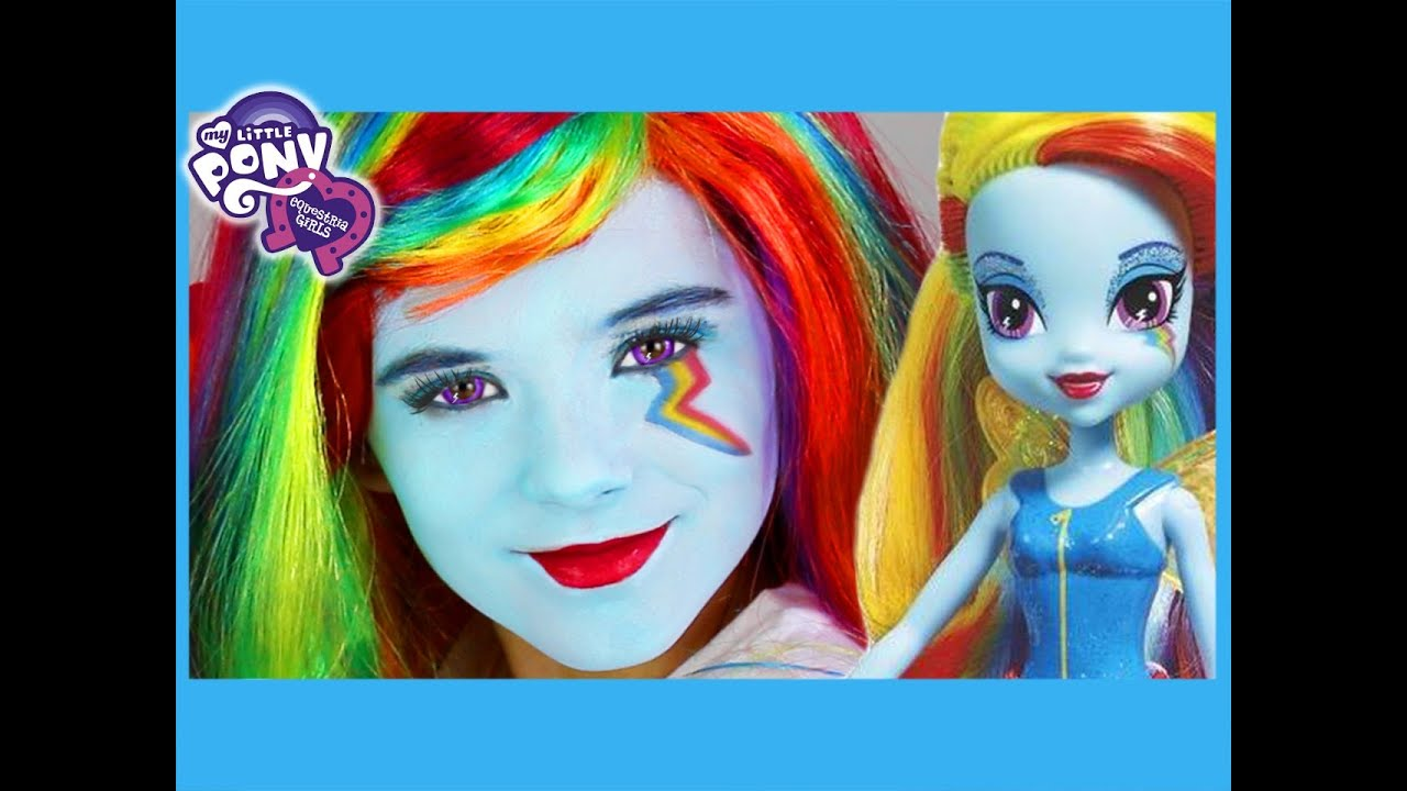 My Little Pony Rainbow Dash Makeup Tutorial Equestria Girl Doll