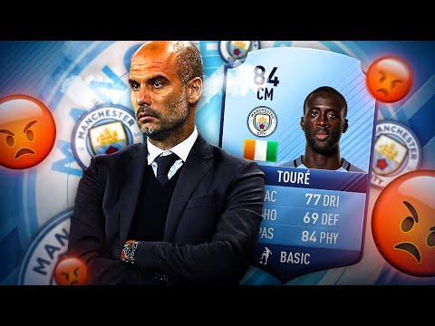 HAHA YAYA VS PEP GUARDIOLA YAYA TOURE IN FIFA 17 MANCHESTER CITY SQUAD! FIFA 17