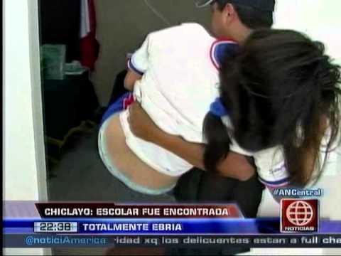 América Noticias - 061213 - Chilcayo: escolar fue encontrada totalmente ebria