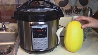 Whole Uncut Spaghetti Squash in Pressure Cooker - Cosori