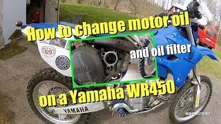How to change motorcycle oil, Yamaha WR450
