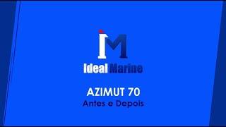 Azimut 70 Antes e Depois - Pintura, Alogamento de pisada fixa e Instalação de Espaço Gourmet