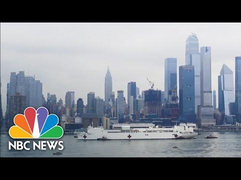 USNS Comfort Arrives In New York City Harbor For Coronavirus Assistance | NBC News