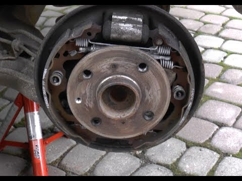 rear drum brake checkup and conservation aygo c1 107