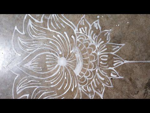 Lotus Alpana / manabasa gurubara jhoti chita design
