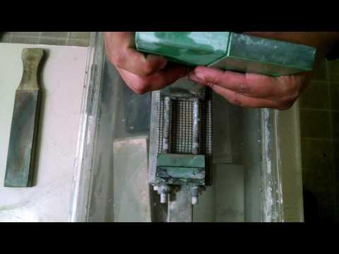 Fallkniven F1 3G, Convex Waterstone sharpening (hi