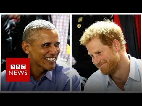Prince Harry grills Barack Obama in quickfire quiz - BBC News