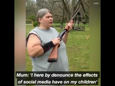 Mom shoots her children's cell phones over social media
