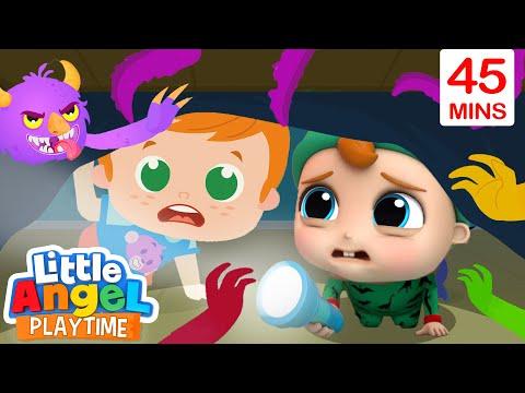 Monsters In The Dark | Bedtime Song | Little Angel Kids Songs & Nursery Rhymes
