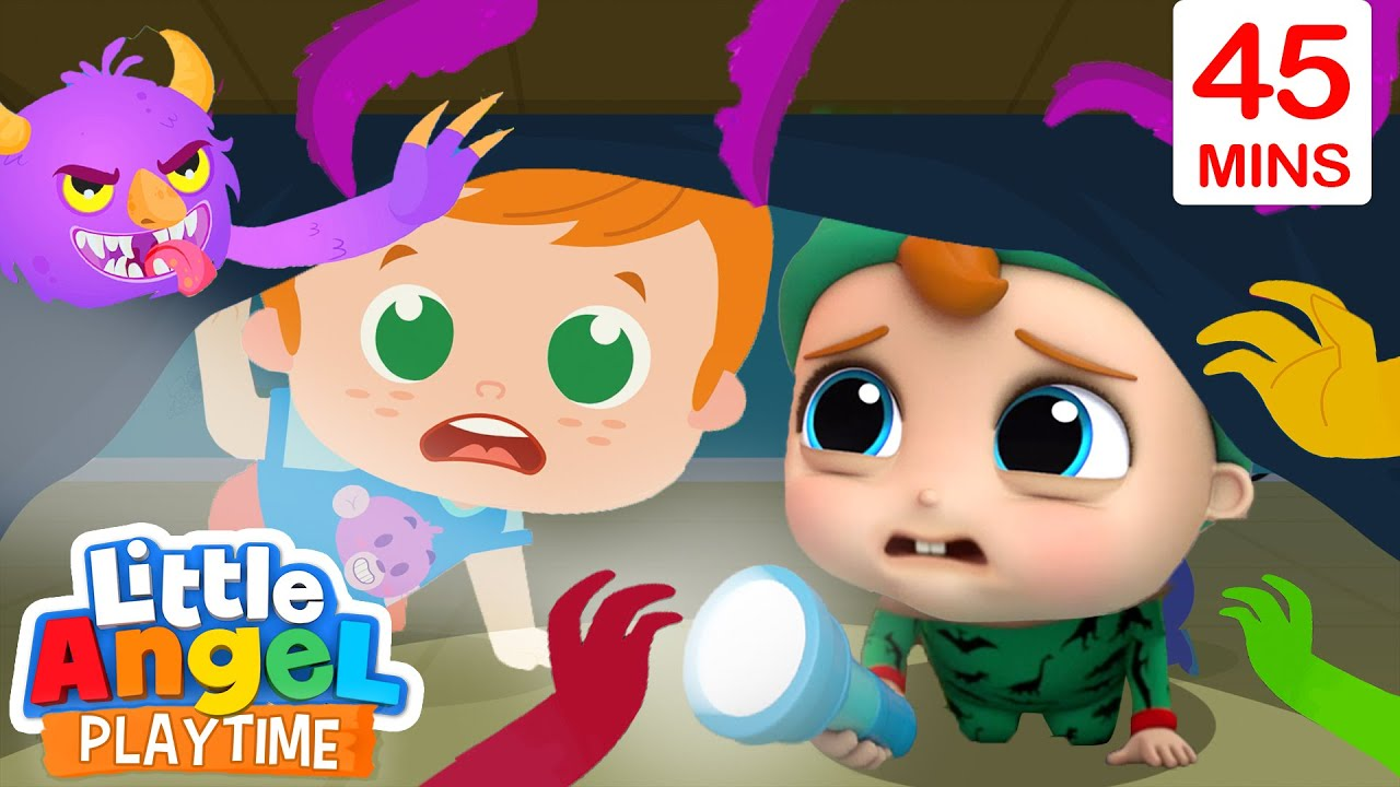 Monsters In The Dark + More | Little Angel Kids Songs & Nursery Rhymes