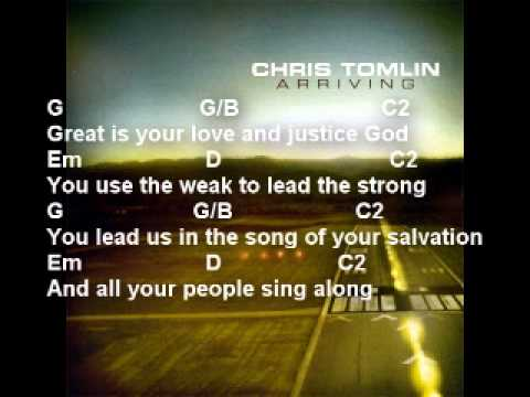 Chris Tomlin - Your Grace Is Enough - With lyrics and guitar chords ...
