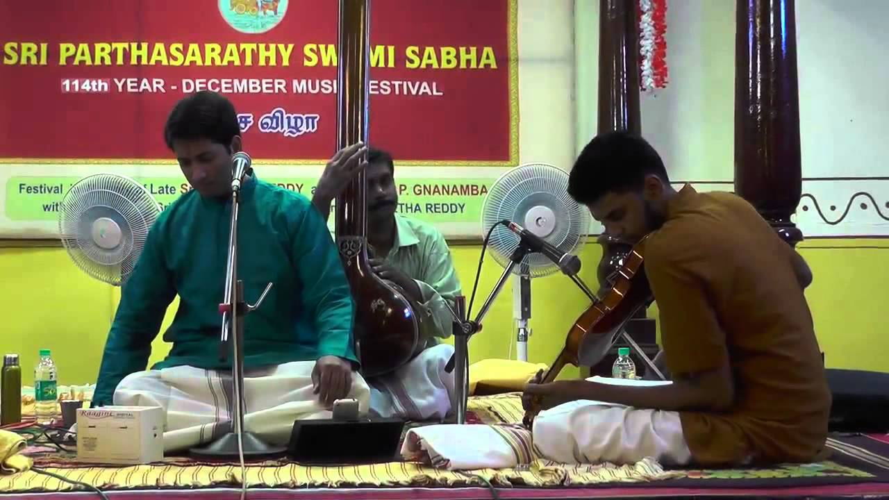 Carnatic Vocal Concert by Vikram Raghavan - Partha Sarthy Sabha