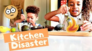 DISASTER IN THE KITCHEN | The Kids Cook Dinner