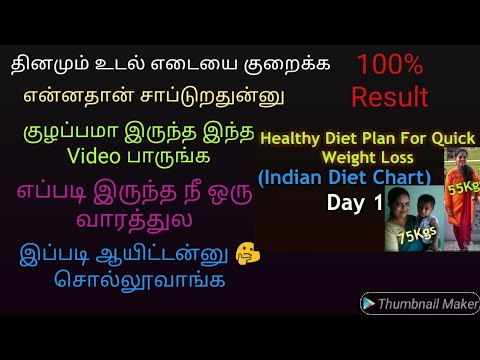 Diet Chart In Tamil For Weight Loss/  How I Lost 20kgs/Full Day Diet Chart In Tamil/Diet For Day 1
