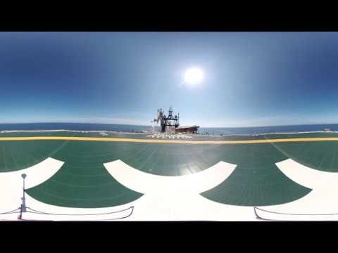 Maersk Inventor | 360 Tour | Helideck and Monkey Island