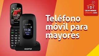 Teléfono movil para mayores 📱-Aligator V600 en Teletiendadirecto.com
