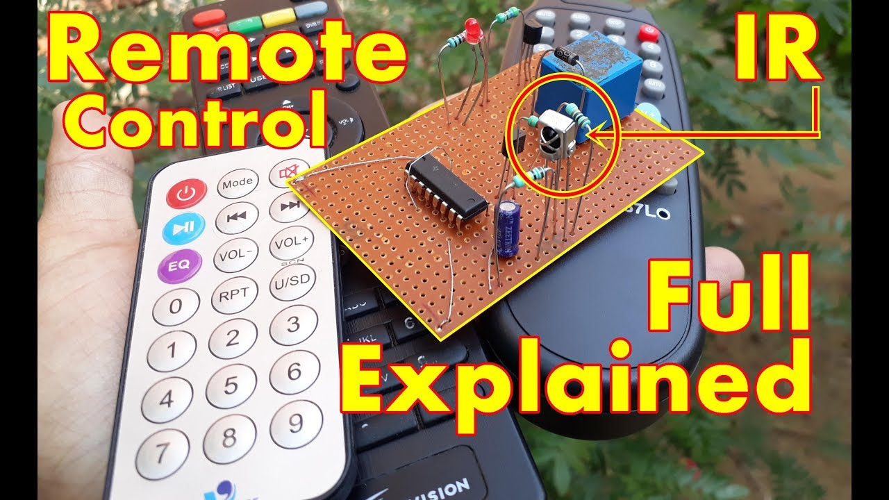 remote control on off switch control fan and light using tv remote circuit diagram [ 1280 x 720 Pixel ]