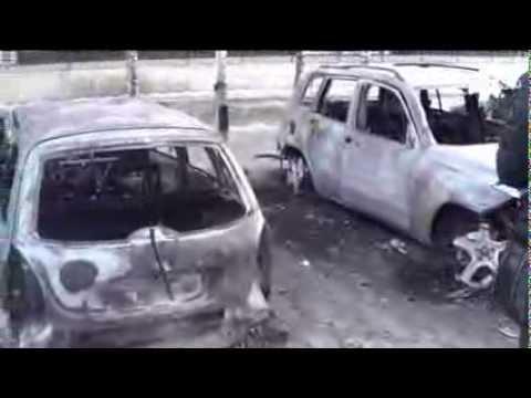 В Москве сгорел автосервис и 10 машин