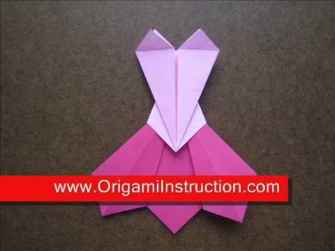 Origami Instructions Origami Prom Dress