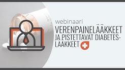 Webinaari: elintapasairauksien lääkitys 2 - verenpainelääkkeet ja pistettävät diabeteslääkkeet