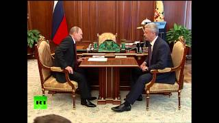 Владимир Путин принял отставку Собянина
