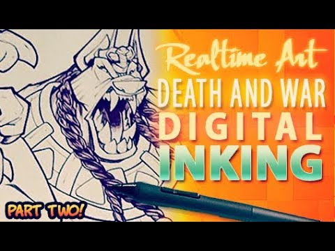 Realtime Art - Death And War Cover - Digi Inks Part 02