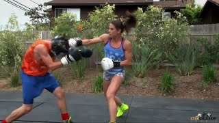 Female Boxer Knocks Out Sports Host (team Usa: Olympic Boxer Danyelle Wolf)