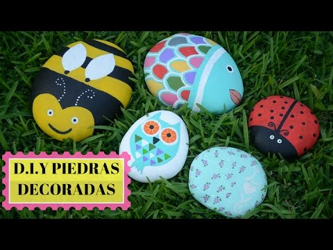 D I Y Piedras Decoradas Youtube