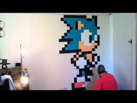 Sonic the Hedgehog! Post It Note Wall Art [HD]