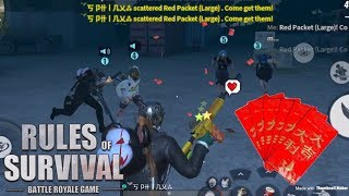 GIVING RED PACKETS TO RANDOM PLAYERS! (SPECIAL) - Rules of Survival (Tagalog)
